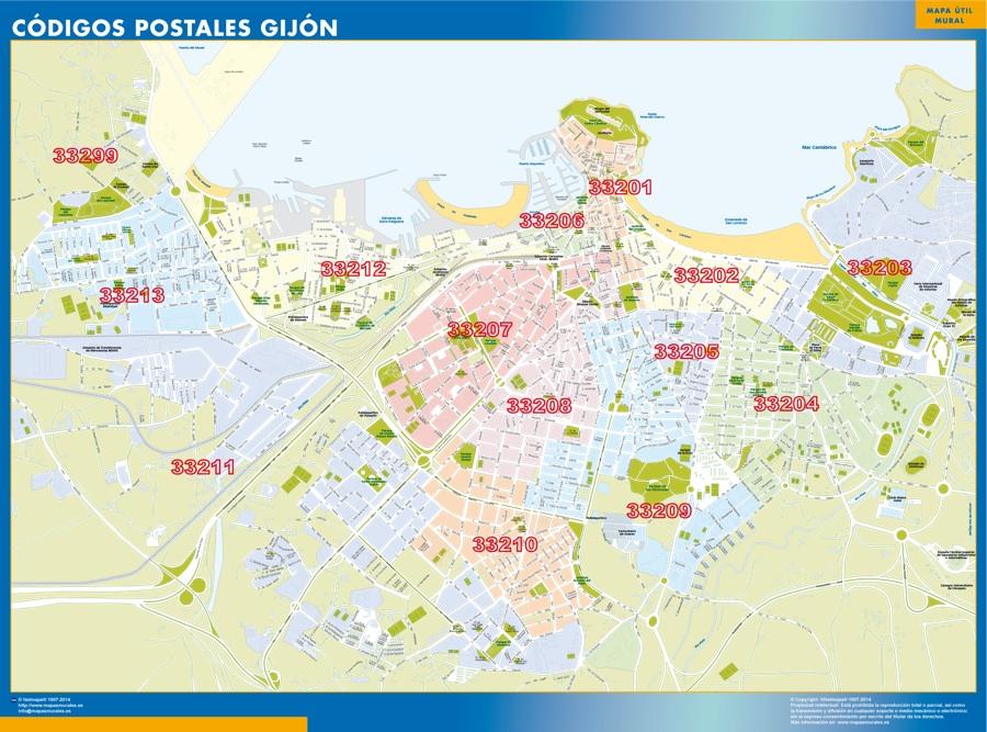 mapa_gijon_codigos_postales